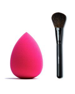 Combideal The Make-Up Blender Pink + The Brush Poederkwast